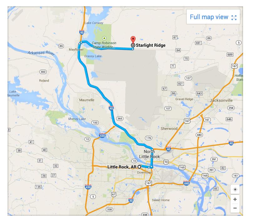 Map to Starlight Ridge